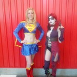 NYCC 2012 Cosplay - Supergirl and Harley Quinn