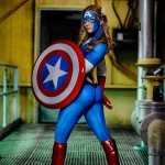 Captain America Bodypaint Cosplay 1