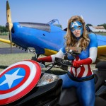 Captain America Bodypaint Cosplay 2