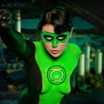 Green Lantern Bodypaint Cosplay 2