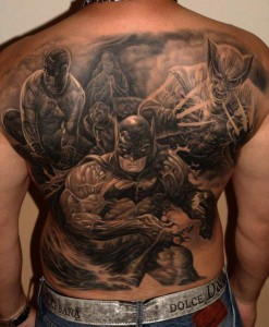 Batman Wolverine Daredevil Tattoo