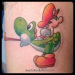 Mario Yoshi Tattoo