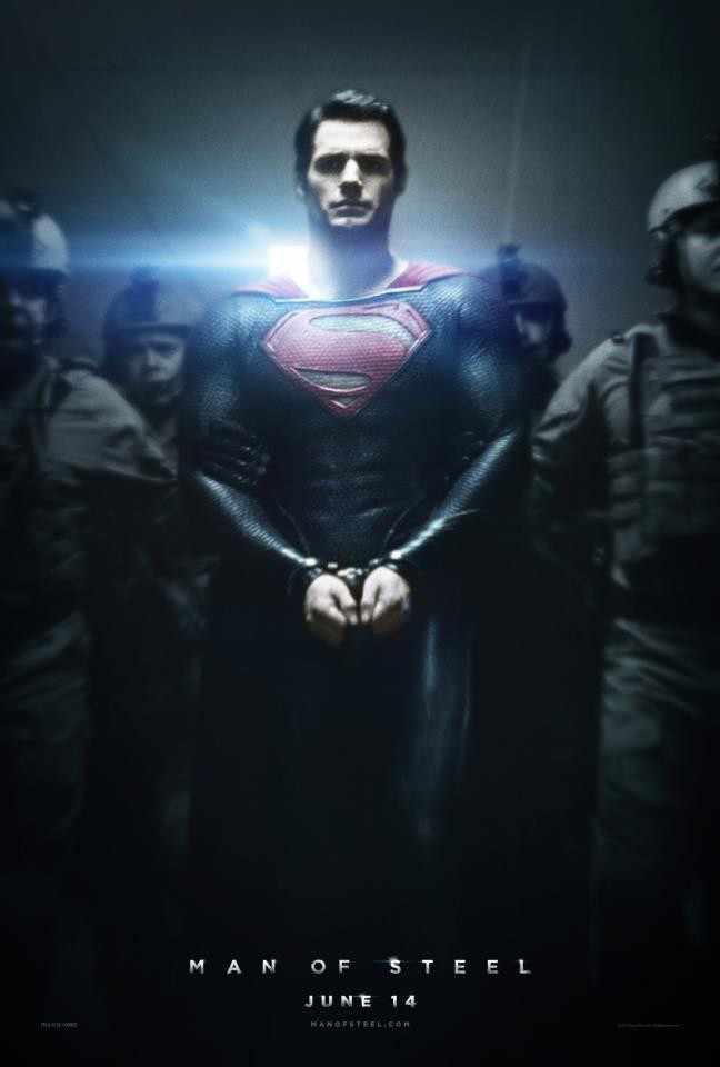 The Man of Steel Poster – Superman in Handcuffs
