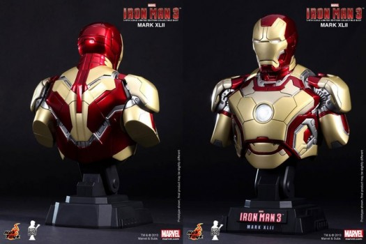 Iron Man and War Machine Busts By Sideshow Collectibles and Hot Toys