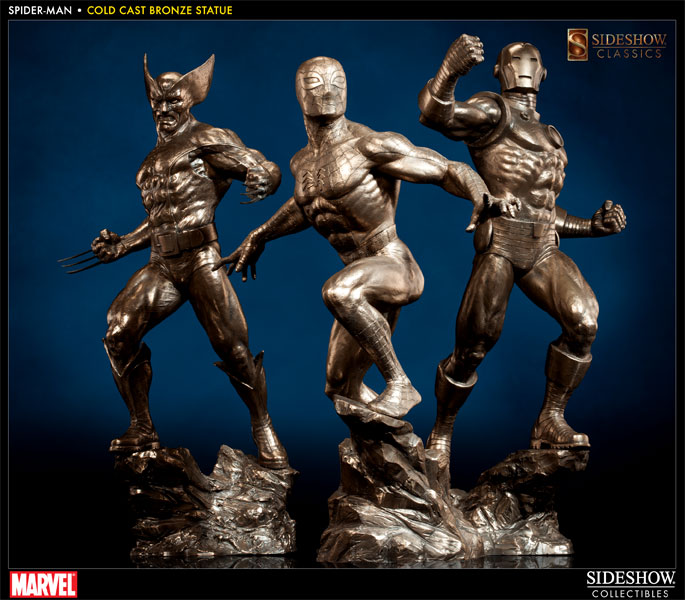 Marvel Cold Cast Bronze Statues By Sideshow Collectibles