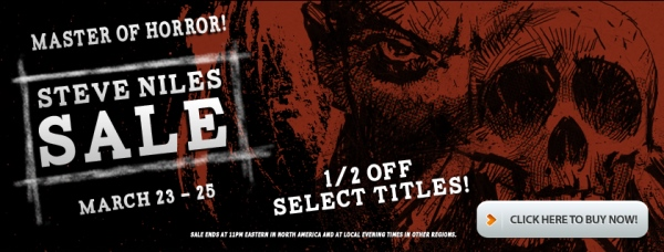 Master of Horror Steve Niles Sale at Comixology