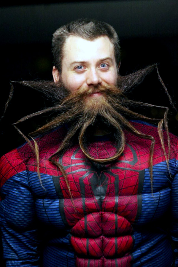 Amazing Spider-Man Beard is a Champion