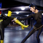 Batgirl and Catwoman Bodypaint Cosplay