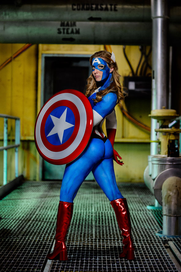 Superhero Body Paint Cosplay Photos By Ben Britt