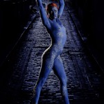Mystique Bodypaint Cosplay 1
