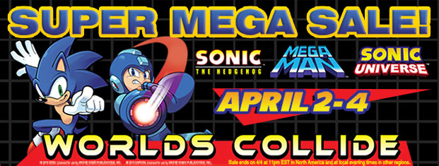 Sonic the Hedgehog and Mega Man Comic Sale